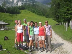 2013 Damen 4; Ausflug zum Watzmannhaus