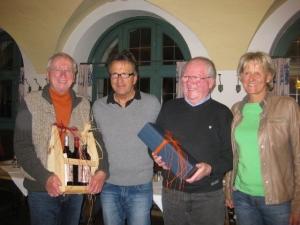 2014-Auszeichnung für Gerhard und Rudi bei der GV